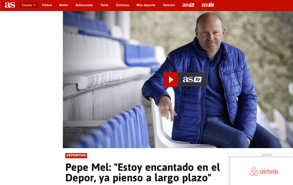 Entrevista en AS a Pepe Mel 2