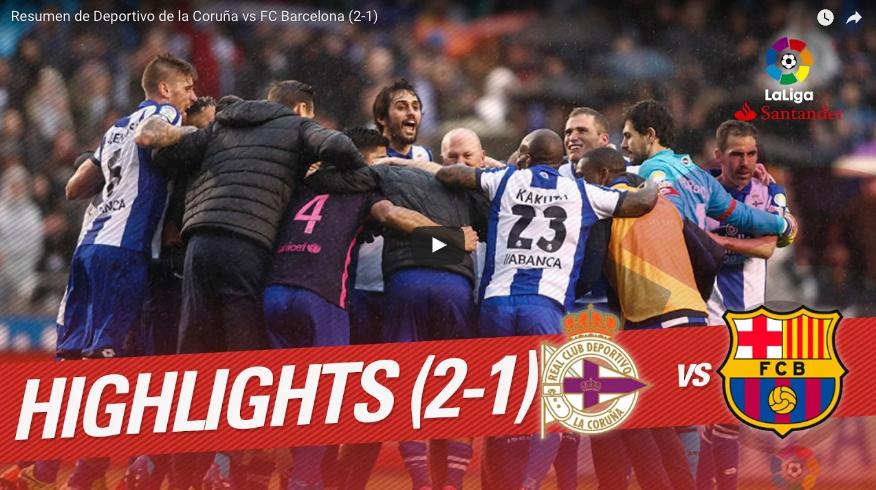 Resumen en vídeo del Deportivo Barcelona