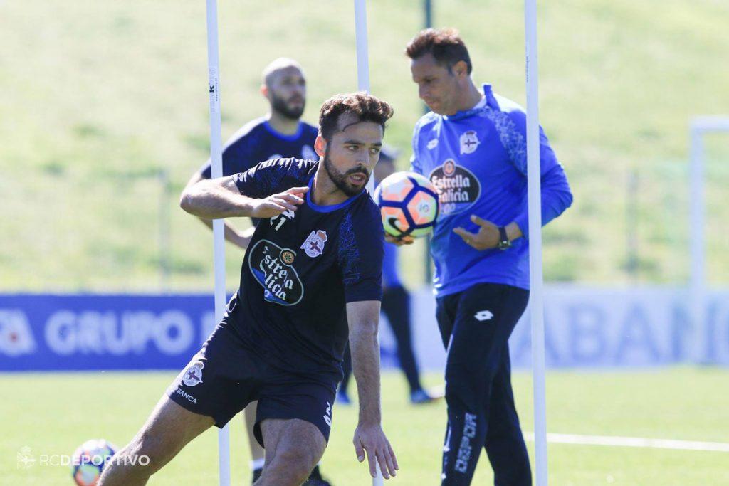 Bruno Gama, entrenamiento Sevilla-Deportivo